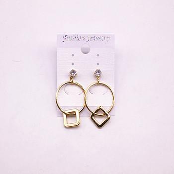 2018 Fashion Fake Custom Jewelry Daily Wear Gold Earrings Designs