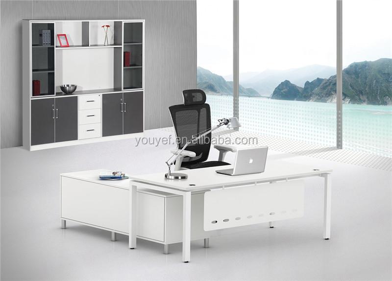 contemporary design white modern executive office desk
