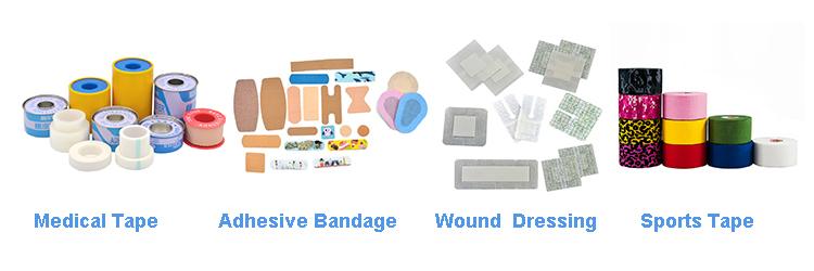 China fabrikant medische katoen tape pleister chirurgische zinkoxide gips