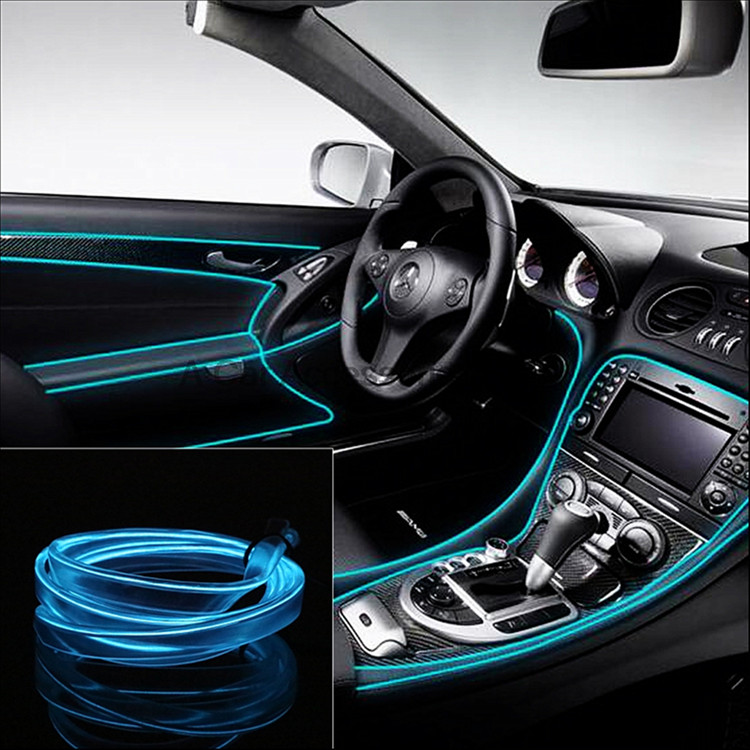 Auto Interior Refit Light El Wire Flexible Neon Car Decorate Lights ...
