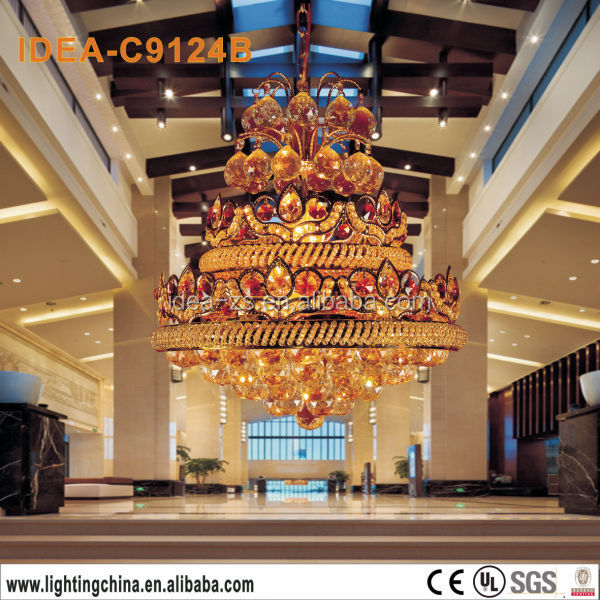 C9124B dragon chandelier crystal,european pendant lamp,big chandelier crystal lighting