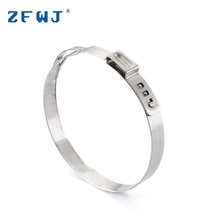 Factory price custom small ring adjustable stainless steel single ear automotive hose clamp