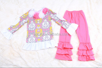 Wholesale Korean Children Clothing Kids Clothes Online Stores In Yiwu China  Girls Ruffle Pants Set - Buy Korean Children Clothing,Girls Ruffle Pants
