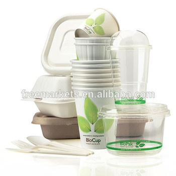 pla eco amigable desechables biodegradables de embalaje de alimentos
