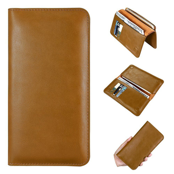 Genuine Leather Universal Mobile Phone Pouch for iphone X/Xr/Xs max Wallet Case