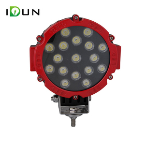 7 Inch 12v dc Round Red 51W LED Driving Lamp Work Light for Car Truck Offroad ATV UTV SUV Tractor Boat 4X4
