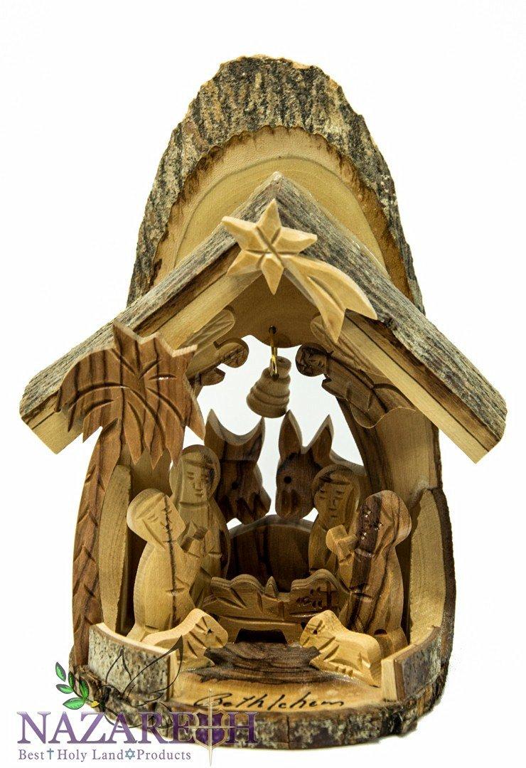 Buy Beautiful Hand Carved Olive Wood Nativity Set With Bethlehem