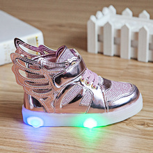 2016 kids light shoes Lighted up the LED Luminous kids sneakers recreational shoes baby boys and