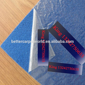 Exhibition Carpet blue color with protective film surface fireproof carpet