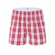 red and white Grid transparent mens underwear boxers