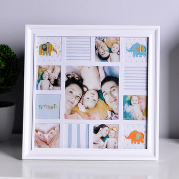 Babys First Year Frame In Elegant White Natural Wood By 3131cm
