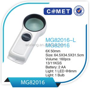MG82016 lighted up promotion dermatology magnifier