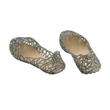 08f1c9b30f1c66 New Women Crystal Glitter Plastic Jelly Hollowed Flat Sandals Beach Ballet  Flats
