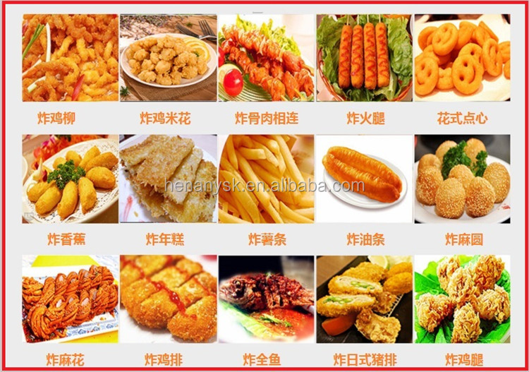 30L/Tank Stainless Steel Potato Chips Gas Oil Fryer Churros Electric Deep Open Potatoes Chip French Fryer