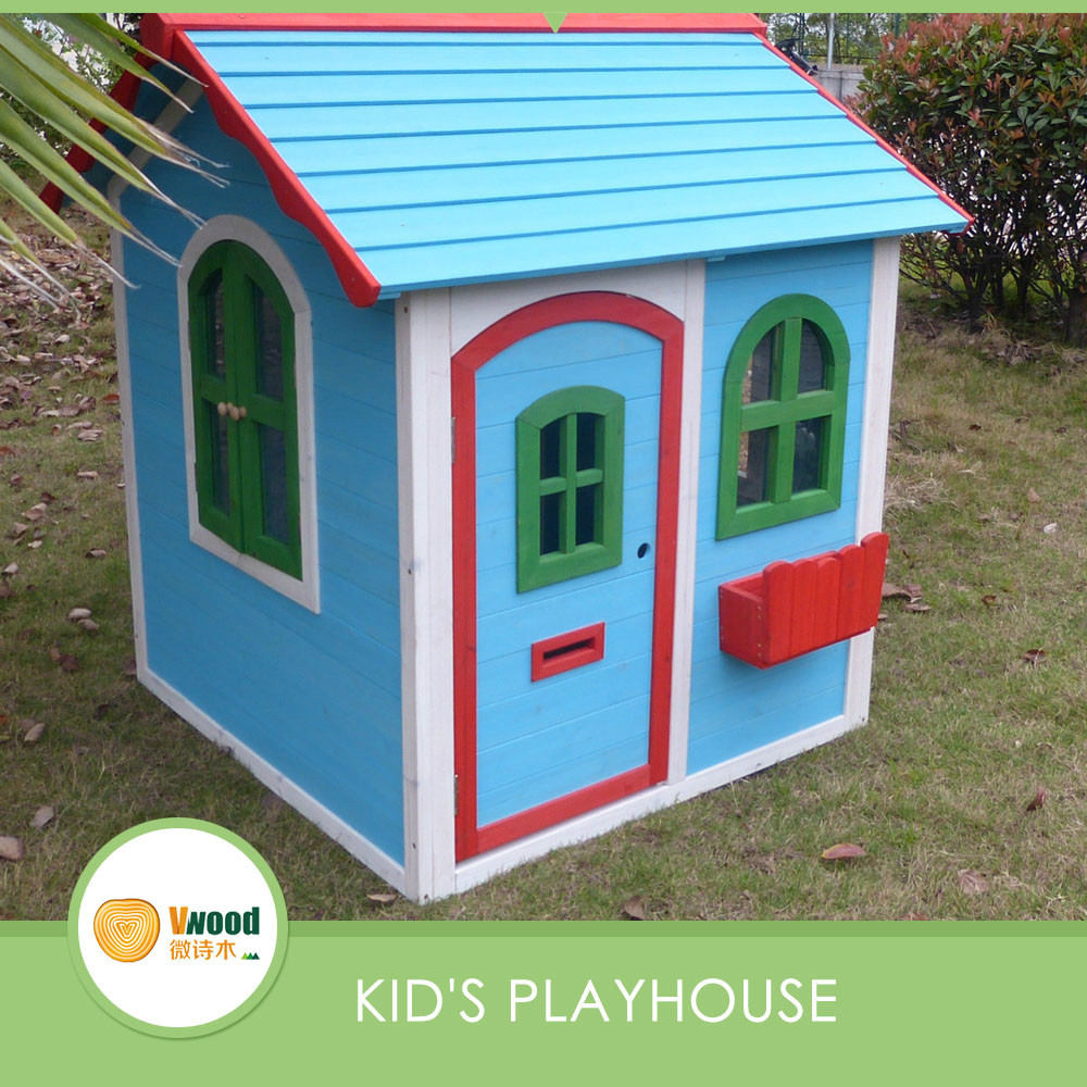 New Design Wooden Blue Cubby House Buy Outdoor Wooden Playhouse - Cubby house