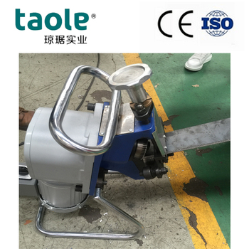 portable chamfering machine for steel pipe and metal plate beveling