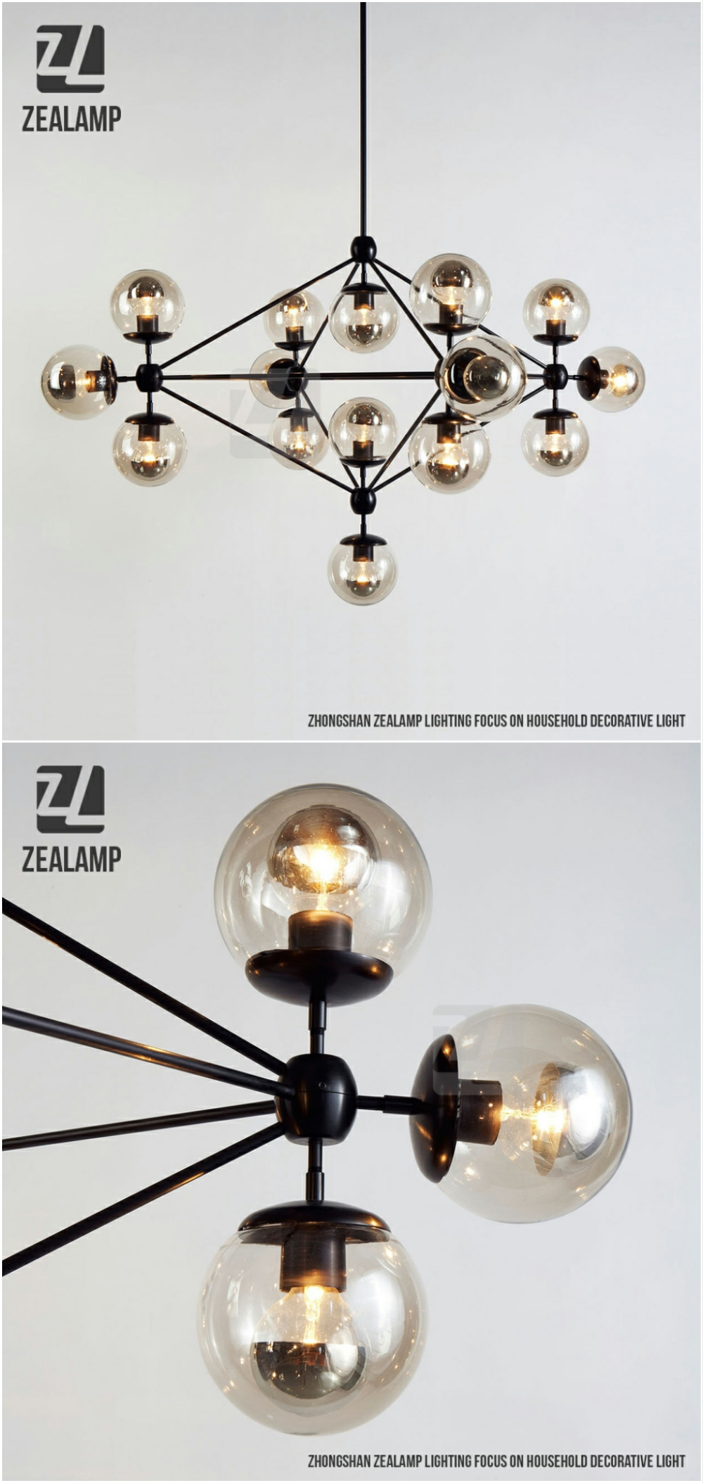 Modo Hand Blown Glass 15 Globes Chandelier Nordic Glass Coffee ...