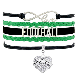 BRT034 Handmade Fashion Braided Multilayer Rope Football Letters Infinity Love Cuff Bangles & Bracelets