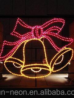 led motif rope light christmas bell motif 2d light motif for festival