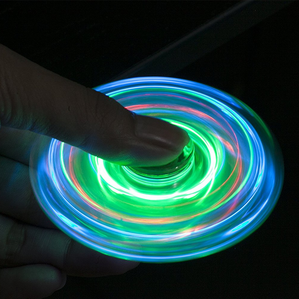 Wholesale Of Crystal Crystal Tri-Spinner Fidget / Hand Finger Spinner DEC Glowing toy from china supplier