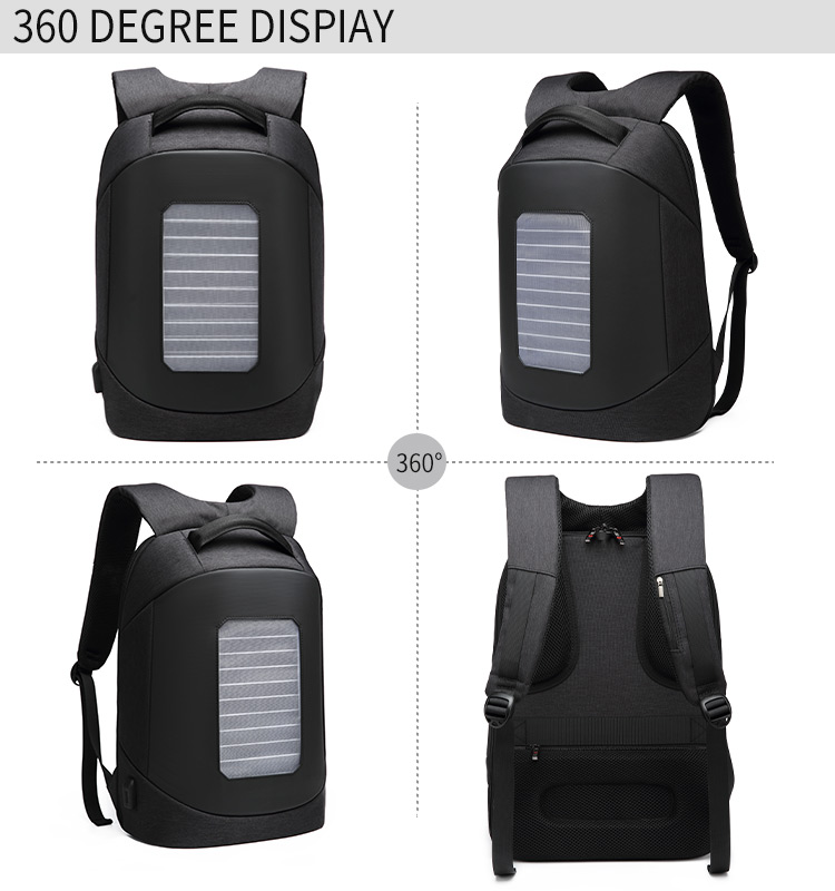 2020 new wholesale manufacturer convertible waterproof travel man solar charging backpack
