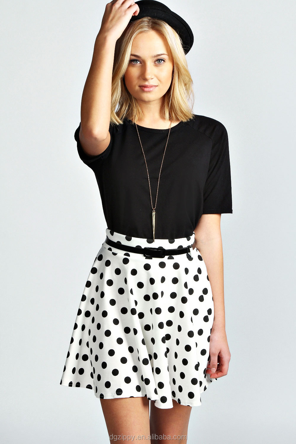 Sexy Polka Dot Print Mini Skirt/latest Design Cute School Girls ...