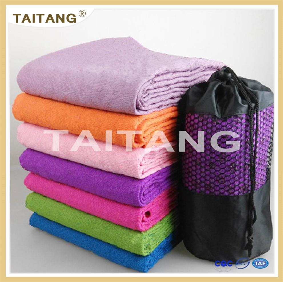 wholesale import woven colorful plain sports gym micro fiber towel