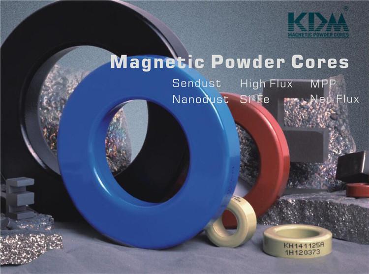 KS225-075A alta polarización DC las condiciones de polvo magnético suave de hierro Sendust serie núcleo transformador de pulso