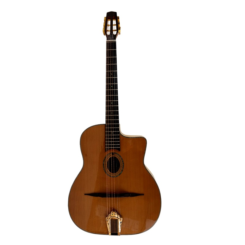 Custom ceder of spruce top solid Aiersi gypsy gitaar uit China fabriek