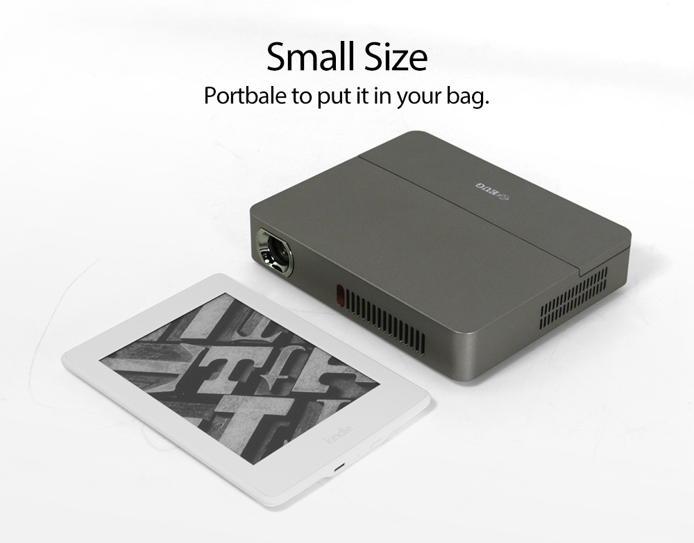 HD DLP Android Bluetooth WIFI LED TV Mini Portable Projector