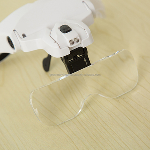 1.0X 1.5X 2.0X 2.5X 3.5X 5 Lens Adjustable Loupe Headband Magnifier LED Magnifying Glasses