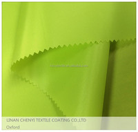 100% poly waterproof pu coated oxford fabric