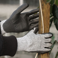 SRSAFETY sample free anti-cut level 5 HPPE working gloves
