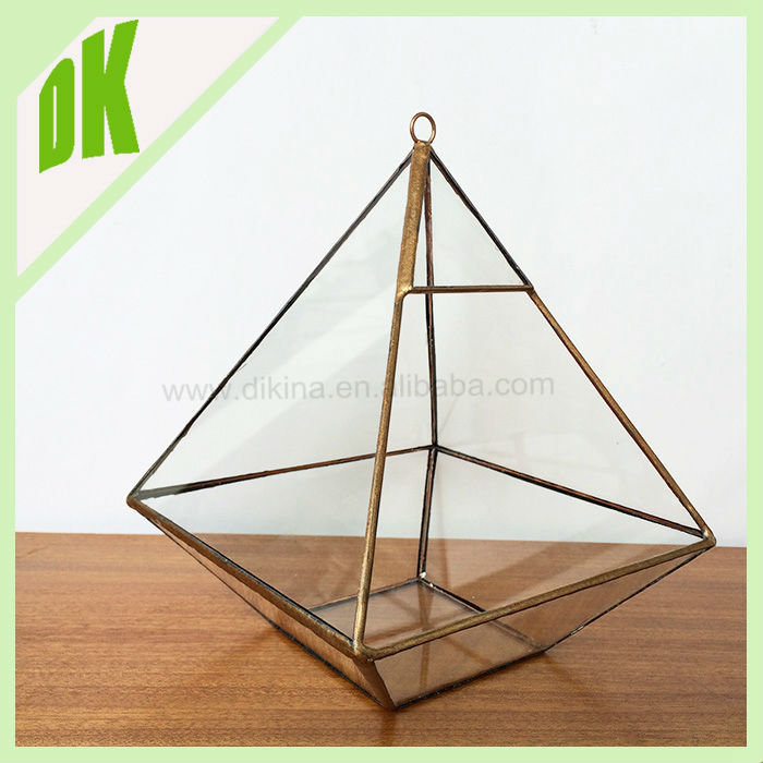 Stained Glass Candle Holder - Desk Accessory - Plant Holder Night Light Contemporary hanging metal cast iron flower pot holder
