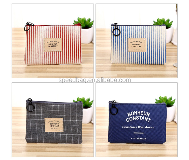 China Supplier Cheap Wholesale Plaid Coin Purse simple wallet