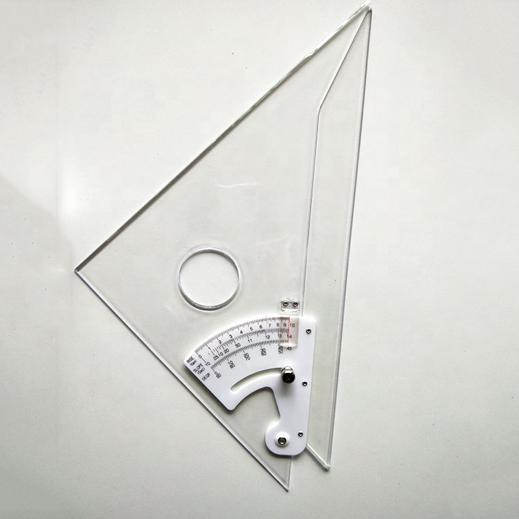 Adjustable Architecture Plastic Transparent Triangle Rulers