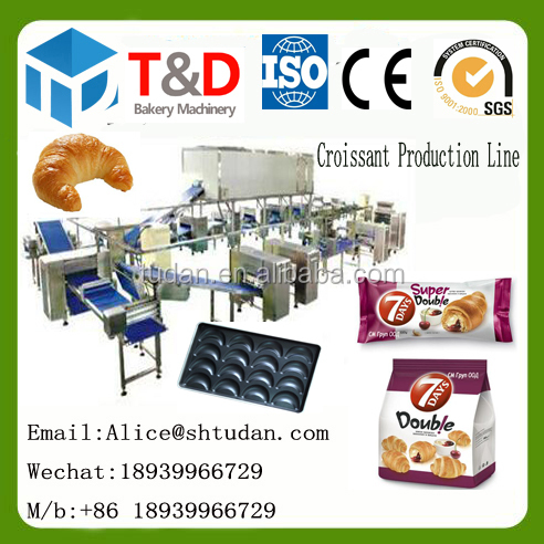 T&D Bakery Machinery--2017 hot sale Full automatic croissant production line plant italian croissant machine with packing