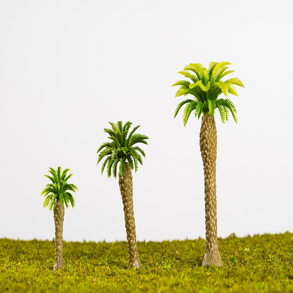 Artificial mini palm trees model for architectural scale model layout/scene layout (Z004)