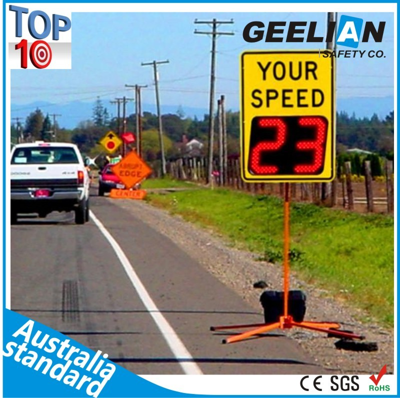 New prodcuts Radar speed safety traffic sign