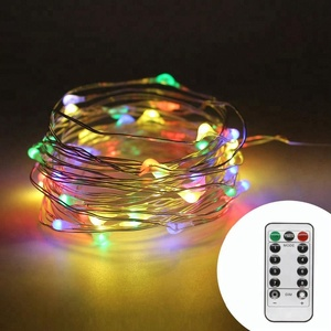 Holiday String Light USB Power Bank Operated 8 Function 10M Portable Beauty Decoration With Remote Control