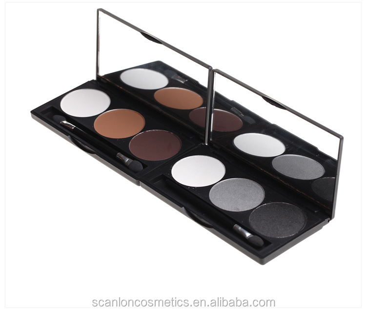 pigment 3 color eye shadow make up with top quality eyeshadow powder 85599