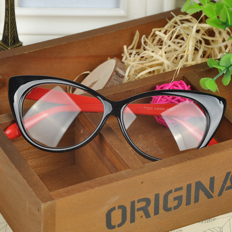 fc7c4340cec Wholesale Plain Eye Frame Spectacle Cat Eye Glasses Eye Styling ...