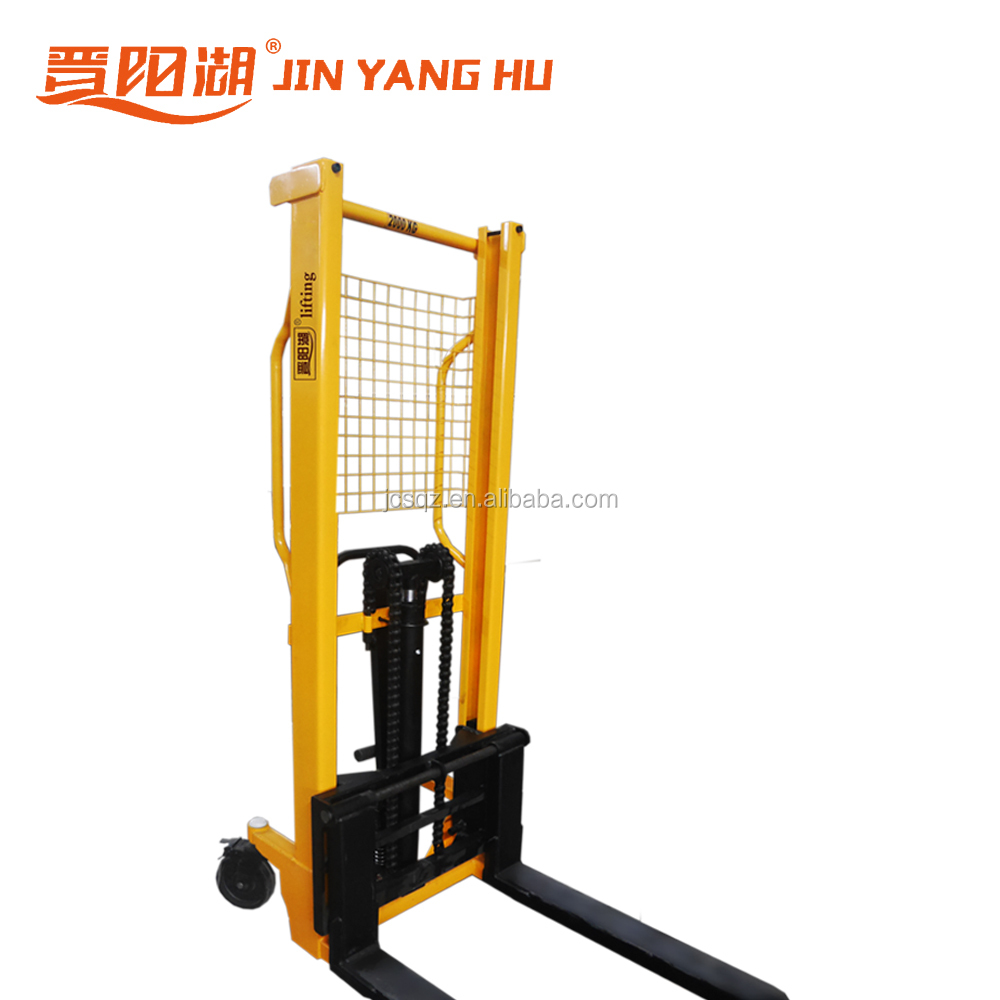 Factory price hand forklift 1 ton manual pallet stacker,hydraulic.
