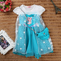 Baby Girl Princess Dress In Summer 2015 Printing Gauze Cloak Short sleeved With A Small Strap