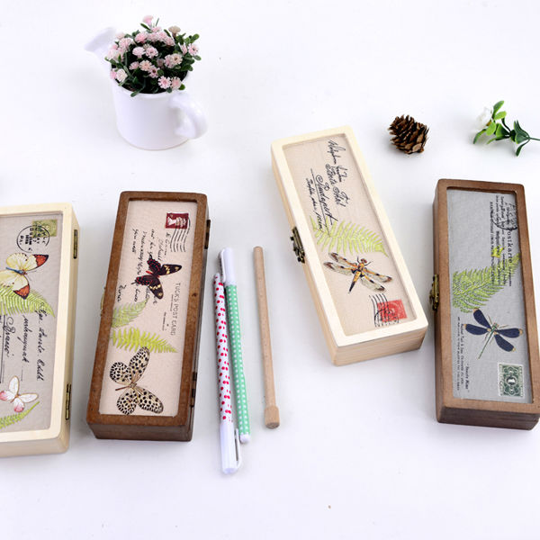 LANGUO stylish wood pencil box manufacturers/stationery for school wholesale model:LGDL-2571