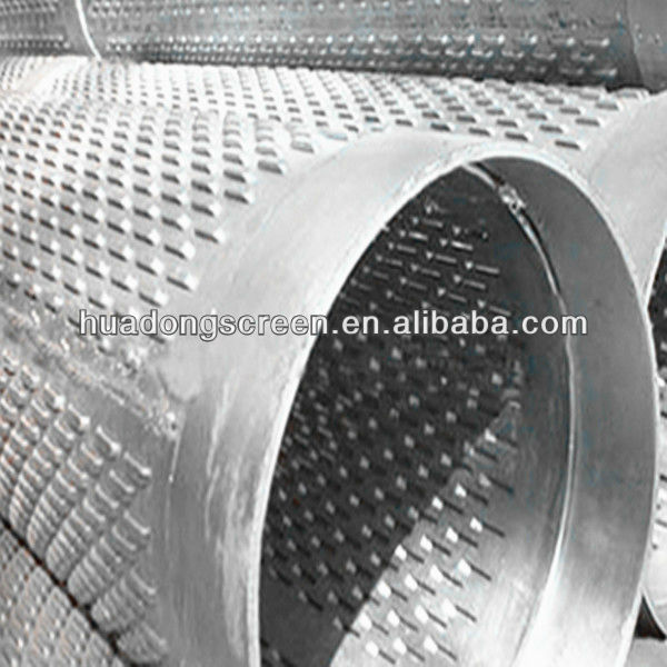 6'' zinc-coated bridge slot screen pipe