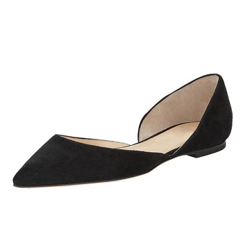 ce3ff1fa6 2017 New stylish ladies flat shoes women cut out suede pointed toe Ballet  Flat