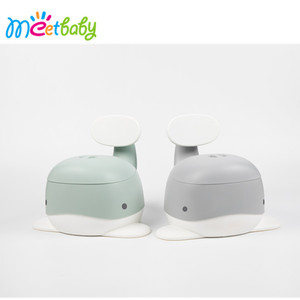 BP033 Best Potty For Baby Toilet Training Convenient Handle Baby Urinal Pot Lovely Whale Plastic Baby Potty Training Seat Chair