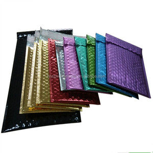 jewelry plastic bags courier bag recyclable gold Metalic Bubble Mailer cd/dvd protecting package