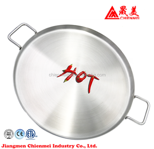 Hot selling family double sided stainless steel cooking frying pan